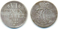 1/6 Taler Kriegsgeld 1757 NM Trier Erzbistum: Johann Philipp, 1756-68: ... 70,00 EUR  zzgl. 2,50 EUR Versand