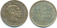 1/12 Taler 1851 B Hannover: Ernst August, 1837-1851: vz-st, Patina  45,00 EUR  zzgl. 2,50 EUR Versand