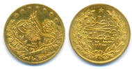 Osmanisches Reich: Abd al-Hamid II., 1876-1909. 50 Piaster 1894 fast vz  275,00 EUR inkl. gesetzl. MwSt., zzgl. 4,00 EUR Versand