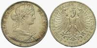 Frankfurt, Stadt: Doppeltaler 1860. Schöne leichte Tönung, vz-St  395,00 EUR  zzgl. 4,00 EUR Versand
