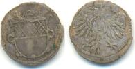 1 Kreuzer 1624 Ulm Stadt:  ss, Schrötlingsfehler. Selten !!  42,00 EUR  zzgl. 2,50 EUR Versand