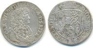 Anhalt Zerbst: 2/3 Taler 1677 ss Carl Wilheln, 1667-1718: 150,00 EUR  zzgl. 4,00 EUR Versand