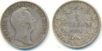 Baden: 1/2 Gulden 1844 ss+ Leopold, 1830-1852: 45,00 EUR  zzgl. 2,50 EUR Versand