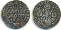 6 Mariengroschen 1674 Hildesheim Stadt:  ss  50,00 EUR  zzgl. 2,50 EUR Versand