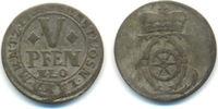 5 Pfennig 1703 Osnabrück Bistum: Karl von Lothringen, 1698-1715: ss-  40,00 EUR  zzgl. 2,50 EUR Versand