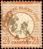 2012 Deutsches Reich 2 1/2 Gr. rotbraun, großer Schild, entwertet mit ... 139,00 EUR  zzgl. 5,00 EUR Versand