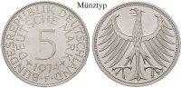 5 DM 1968 D Klein- und Kursmünzen 5 DM 1968, D. Adler. J.387. vz-st  16,50 EUR  zzgl. 6,50 EUR Versand