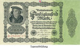 50000 Mark 1922-11-19 Inflation 1919-1924  I  27,00 EUR  zzgl. 6,50 EUR Versand