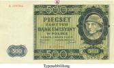 500 Zloty 1940-03-01 Besatzungsausgaben des 2. Weltkrieges 1939-1945 Ge... 22,00 EUR  zzgl. 6,50 EUR Versand