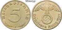 5 Reichspfennig 1937 J Klein- und Kursmünzen 5 Reichspfennig 1937, J, A... 22,00 EUR  zzgl. 6,50 EUR Versand