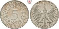 5 DM 1957 D Klein- und Kursmünzen 5 DM 1957, D. J.387. vz  45,00 EUR  zzgl. 6,50 EUR Versand