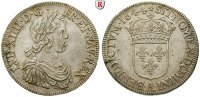 Frankreich Ecu  la mche courte 1644 f.st...
