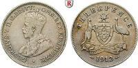 3 Pence 1912 Australien George V., 1910-1936 ss  15,00 EUR  zzgl. 6,50 EUR Versand