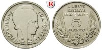 5 Francs 1933 Frankreich III. Republik, 1871-1940 vz  15,00 EUR  zzgl. 6,50 EUR Versand