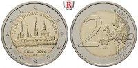 2 Euro 2014 Lettland  bfr.  5,00 EUR  zzgl. 6,50 EUR Versand