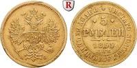 5 Rubel 1865 Russland Alexander II., 1855-1881, Gold, 6,54 g ss, Rdf., ... 1100,00 EUR kostenloser Versand