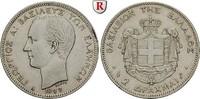 2 Drachmai 1883 Griechenland Georg I., 1863-1913 ss+, kl. Rdf  300,00 EUR  zzgl. 6,50 EUR Versand