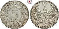 5 DM 1958 J Klein- und Kursmünzen 5 DM 1958, J. Adler. J.387. ss+  370,00 EUR  zzgl. 6,50 EUR Versand