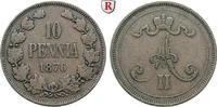 10 Penniä 1876 Finnland Unter russischer Herrschaft, Alexander II., 185... 30,00 EUR  zzgl. 6,50 EUR Versand