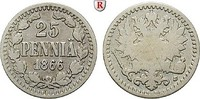 25 Penniä 1866 Finnland Unter russischer Herrschaft, Alexander II., 185... 40,00 EUR  zzgl. 6,50 EUR Versand