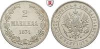 2 Markkaa 1874 Finnland Unter russischer Herrschaft, Alexander II., 185... 30,00 EUR  zzgl. 6,50 EUR Versand