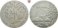 100 Markkaa 1990 Finnland Republik st  25,00 EUR  zzgl. 6,50 EUR Versand