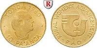 10 Pa´anga 1980 Tonga Taufa´ahau Tupou IV., 1965-2006, Gold, 0,40 g st  40,00 EUR  zzgl. 6,50 EUR Versand