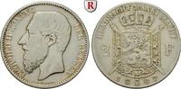 2 Francs 1887 Belgien Königreich, Leopold II., 1865-1909 f.ss  25,00 EUR21,25 EUR  zzgl. 6,50 EUR Versand