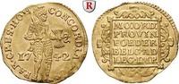 Dukat 1742 Niederlande Holland, Gold, 3,49 g vz, Prägeschwäche am Rand;... 320,00 EUR  zzgl. 6,50 EUR Versand