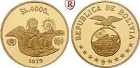4000 Pesos 1979 Bolivien Republik, seit 1825, Gold, 17,17 g PP  650,00 EUR  plus 10,00 EUR verzending