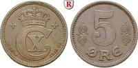 5 Öre 1913 Dänemark Christian X., 1912-1947 ss+, kl. Rdf.  95,00 EUR  zzgl. 6,50 EUR Versand