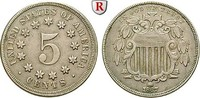 5 Cents 1867 USA  ss-vz  35,00 EUR  zzgl. 6,50 EUR Versand