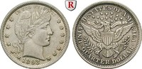 1/4 Dollar 1893 USA  f.vz, Rdf. und kl. Kratzer  60,00 EUR  zzgl. 6,50 EUR Versand