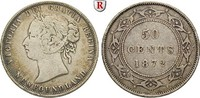 50 Cents 1872 Kanada Neufundland, Victoria, 1837-1901 ss  40,00 EUR  zzgl. 6,50 EUR Versand