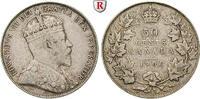 50 Cents 1906 Kanada Edward VII., 1901-1910 ss  80,00 EUR  zzgl. 6,50 EUR Versand