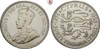 45 Piastres 1928 Zypern George V., 1910-1936 ss-vz  /  vz, Kratzer auf ... 80,00 EUR  zzgl. 6,50 EUR Versand