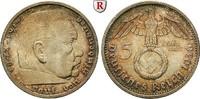5 Reichsmark 1939 E Klein- und Kursmünzen 5 Reichsmark 1939, E. Hindenb... 45,00 EUR  zzgl. 6,50 EUR Versand