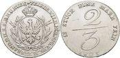 2/3 Taler 1801 Brandenburg-Preussen Friedrich Wilhelm III. 1797-1840. Winz.Kr., selten, fast vorzüglich