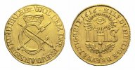Sachsen-Albertinische Linie Gold-Sophiendukat Johann Georg I. 1615-1656.