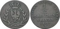 CU-1/2 Groschen 1811  A Brandenburg-Preussen Friedrich Wilhelm III. 179... 59,00 EUR  zzgl. 3,00 EUR Versand