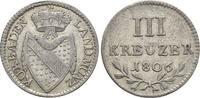 3 Kreuzer 1806 Baden-Durlach Karl Friedrich 1738-1806. Selten, fast vor... 195,00 EUR kostenloser Versand