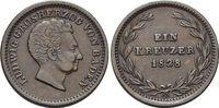 CU-Kreuzer 1828 Baden-Durlach Ludwig 1818-1830. Patina, fast vorzüglich  39,00 EUR  zzgl. 3,00 EUR Versand