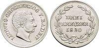 3 Kreuzer 1830 Baden-Durlach Ludwig 1818-1830. Kl.Sf., a.Rd., fast Stem... 99,00 EUR  zzgl. 3,00 EUR Versand