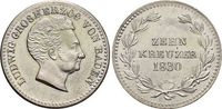 10 Kreuzer 1830 Baden-Durlach Ludwig 1818-1830. Min.Rf., vorzüglich +  69,00 EUR  zzgl. 3,00 EUR Versand