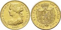 Gold-100 Reales 1864 Spanien Isabel II. 1833-1868. Min.Rf., selten, vo... 475,00 EUR