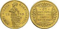 Gold-Dukat 1853 Hamburg-Stadt  Winz.Kr., ...