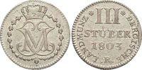 3 Stüber 1 1803  R Berg-Herzogtum Maximilian Joseph von Pfalz-Birkenfel... 25,00 EUR  zzgl. 3,00 EUR Versand