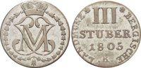 3 Stüber 1 1805  R Berg-Herzogtum Maximilian Joseph von Pfalz-Birkenfel... 25,00 EUR  zzgl. 3,00 EUR Versand
