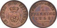 CU-Pfennig 1858  A Lippe-Detmold Paul Friedrich Emil Leopold 1851-1875.... 12,00 EUR  zzgl. 3,00 EUR Versand