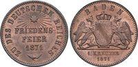 CU-Gedenkkreuzer 1871 Baden-Durlach Friedrich I. 1852-1907. fast Stempe... 45,00 EUR  zzgl. 3,00 EUR Versand